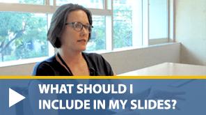 designing slides for science presentations