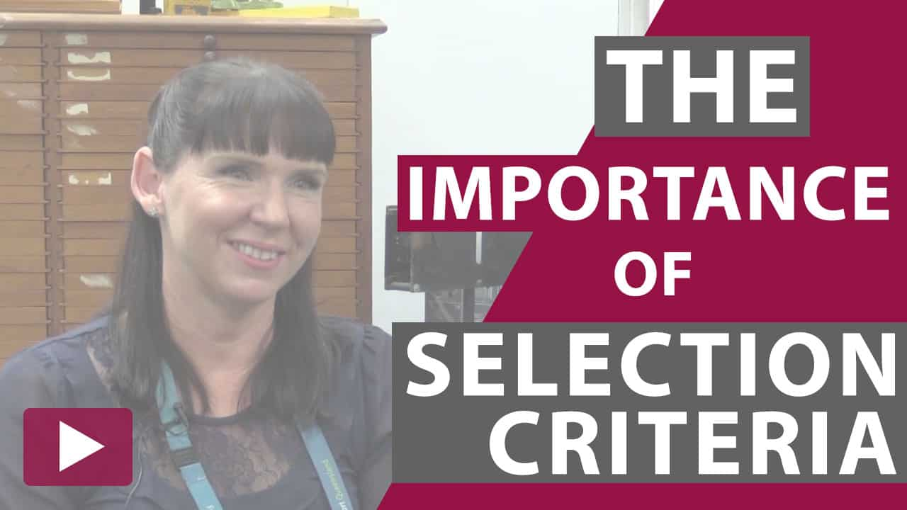 importance of selection criteria thumbnail