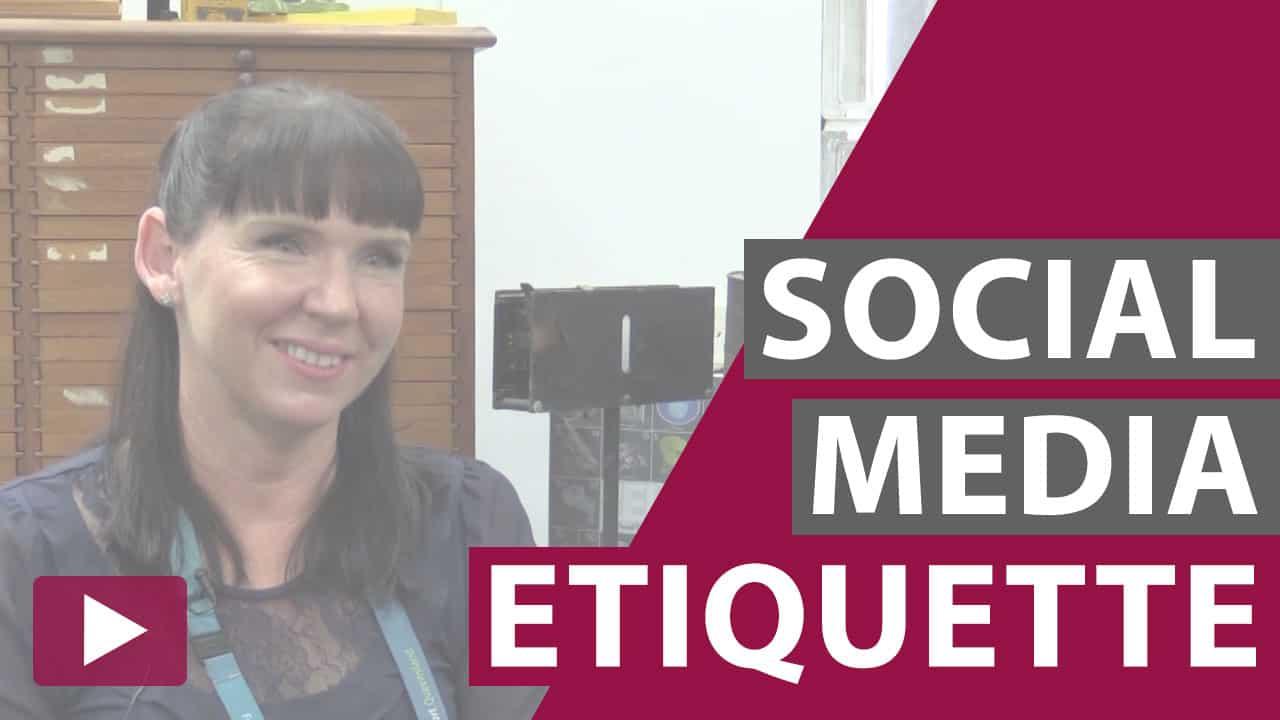 social media etiquette video thumbnail